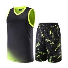 Мужские беговые баскетбольные майки, наборы, пустая дышащая баскетбольная командная куртка Униформа для тренировок, костюмы для матча, номер DIY