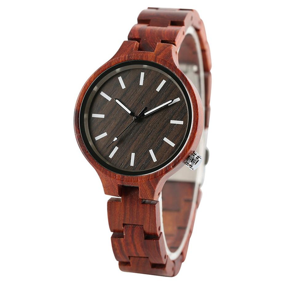 YISUYA Fashion Natural Simple Casual Wood Bamboo Wooden QuartzWatches Ladies` Bracelet Clasp Analog Women Gift Clock Relojes (18)
