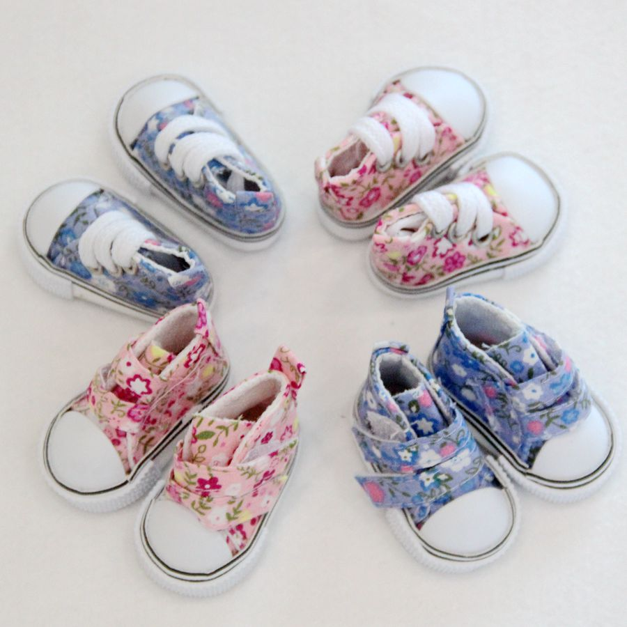 Assorted 5cm Canvas Shoes For BJD Doll Fashion Mini Toy Shoes Sneaker Bjd Doll Shoes For Russian Doll  Dress Up Accessories