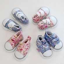 Assorted 5cm Canvas Shoes For BJD Doll Fashion Mini Toy Shoes Sneaker Bjd Doll Shoes for Russian Doll  Dress Up Accessories 1pair 2pcs 3 5cm fashion plastic doll shoescsuit for blythe licca jb bjd dolls accessory toy parts