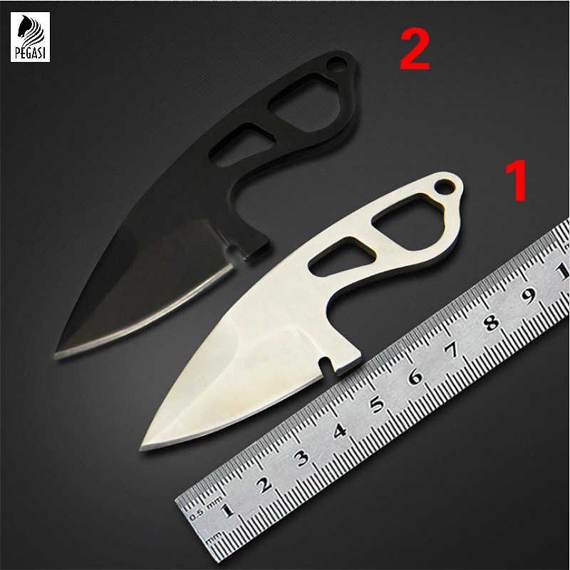 PEGASI 58 HRC mini düz bıçak açık kamp kurtarma muaf posta düz bıçak en iyi hediye toplama araçları