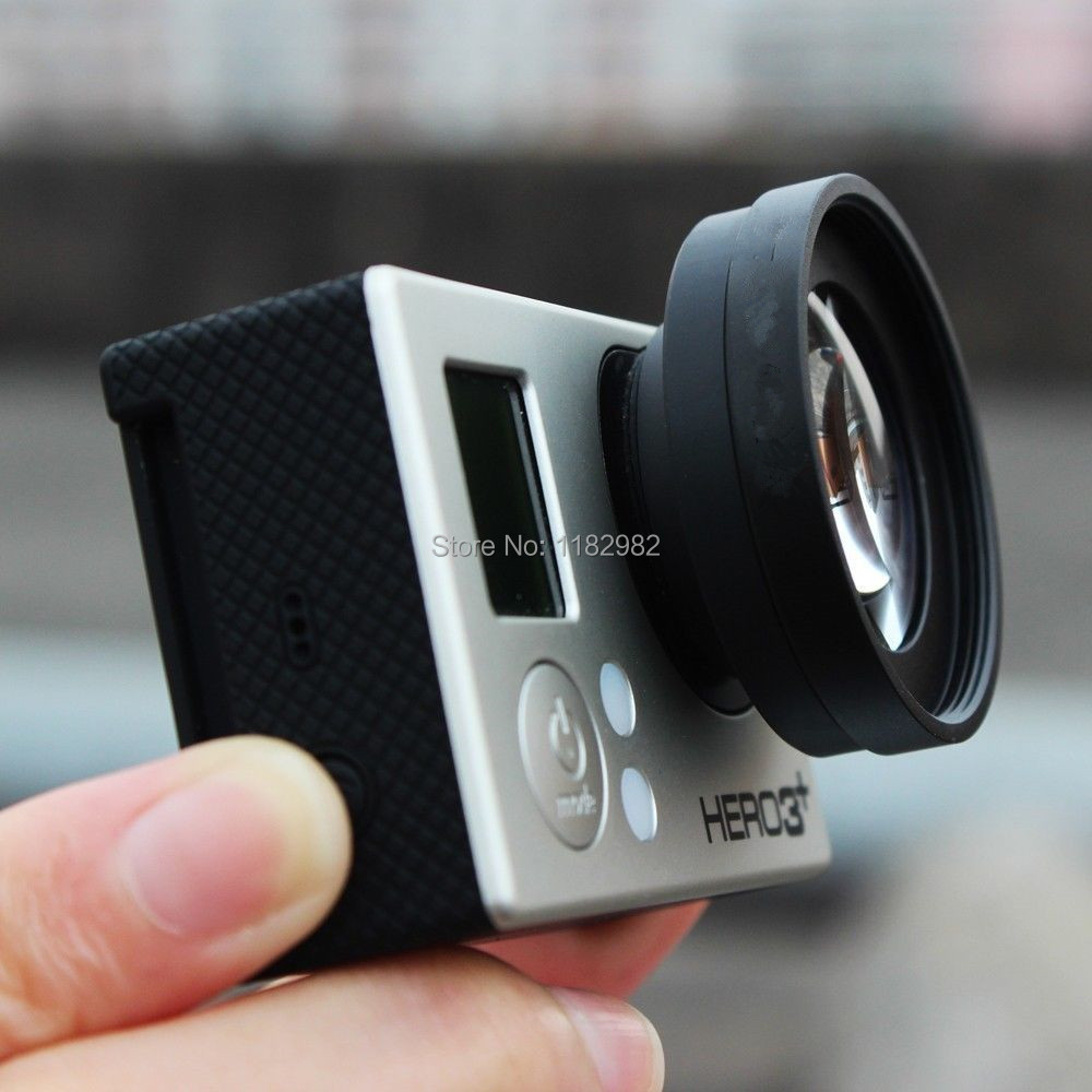 tracking number Gopro Hero 4 3+ Macro Lens 12.5 With/ Lens Adapter /37mm lens cap For Gopro Hero4 Hero3+ Camera Wide Angle Lens