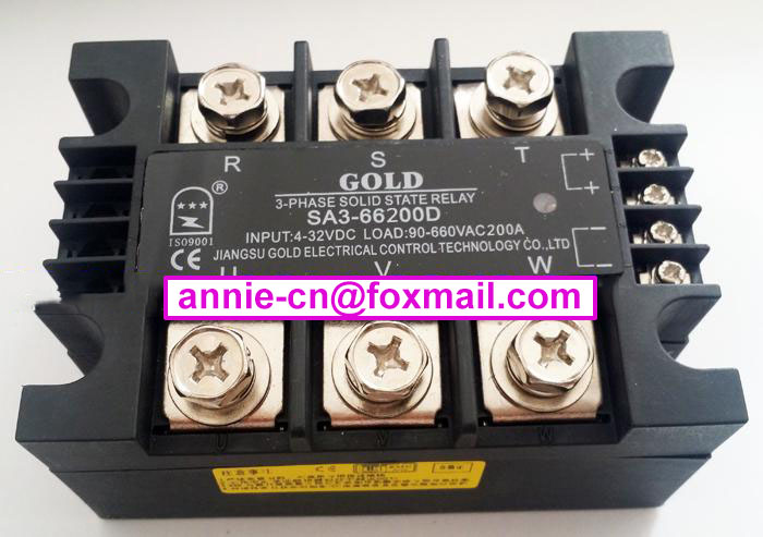 ФОТО SA366200D(SA3-66200D)  GOLD New and original  SSR  3-phase DC control AC  SOLID STATE RELAY   200A