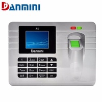DANMINI A5 Fingerprint Sensor Employee Attendance Machine Time Clock Recorder 2.4 Inch TFT Color Screen Fingerprint Door Lock