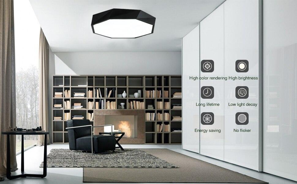 Led Ceiling Lights 8w 12 Inch Flush