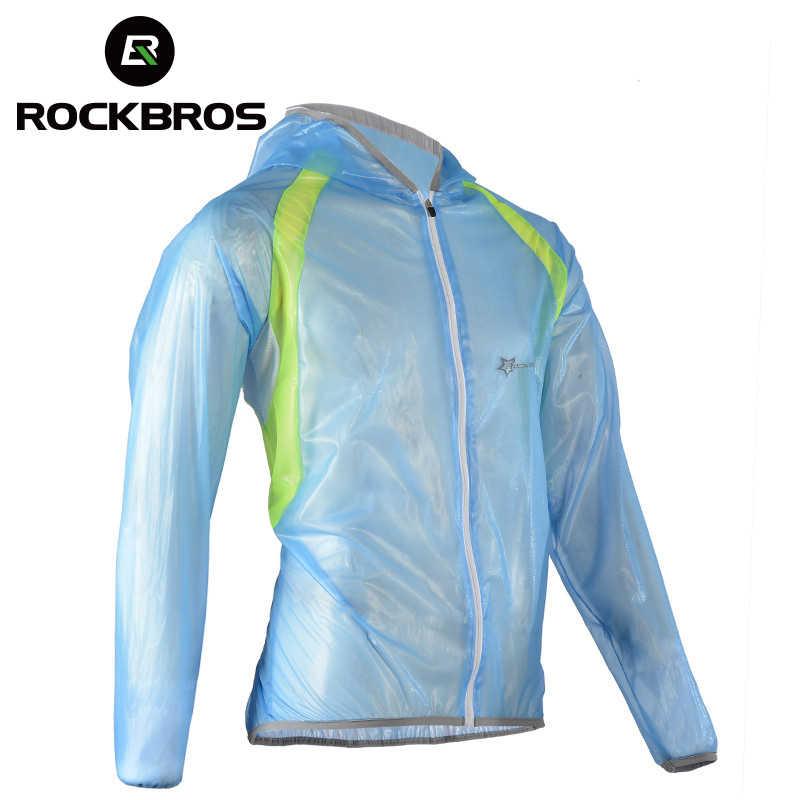 ROCKBROS 防水ハイキングジャケット TPU レインコートサイクリングジャージーレインコートバイク自転車ジャージ釣り男性女性キャンプジャケット