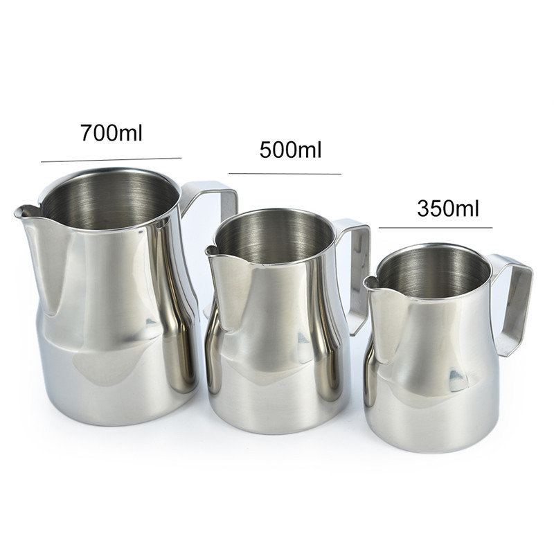 FHEAL Coffee Pitcher Milk Frothing Jug 1pc 350/500/750ml Stainless ...