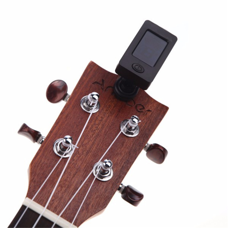 360 Degree Rotatable JOYO Guitar Bass Tuner JT-01 Mini LCD Clip-on Guitar Tuners Machines Violin Ukulele ...