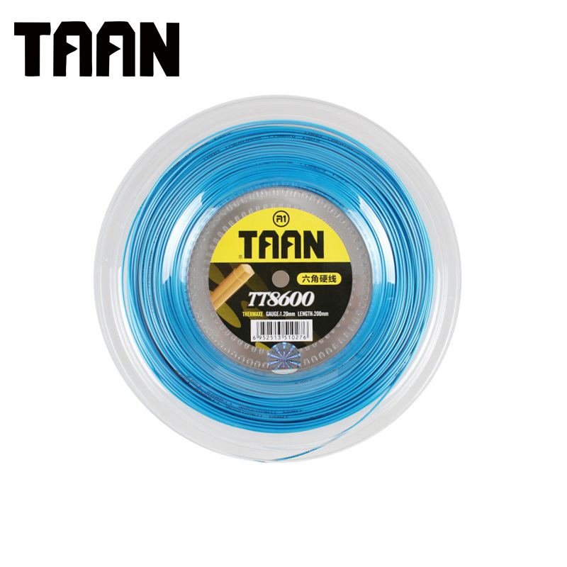 TAAN TT8600 Tennis Racket String Six Angle String Sport Outside 1.2mm 200m Reel Big Tennis Strings 3 colors 1pc taan tt8700 tennis string flexibility tennis racquet string soft poly string rackets string 1 1mm