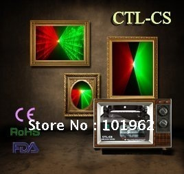 Stage laser light---140mW Green+Red Laser Light DMX SOUND AUTO DJ Disco Party Stage Light(CTL-CS)-Free shipping
