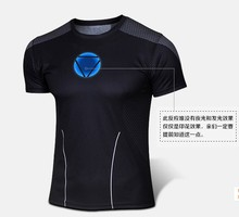 New 3 d printing 2015 men iron man, spiderman, the incredible hulk printed t-shirts, fitness quick dry T-shirt, free shipping