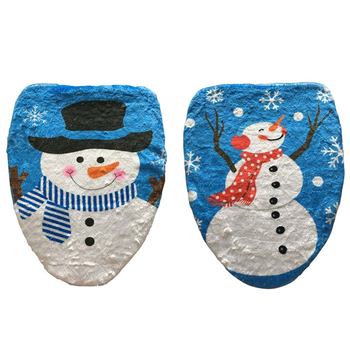 2017 New Single Snowman Toilet Lid Cover Christmas Decor Year Xmas Decoration For
