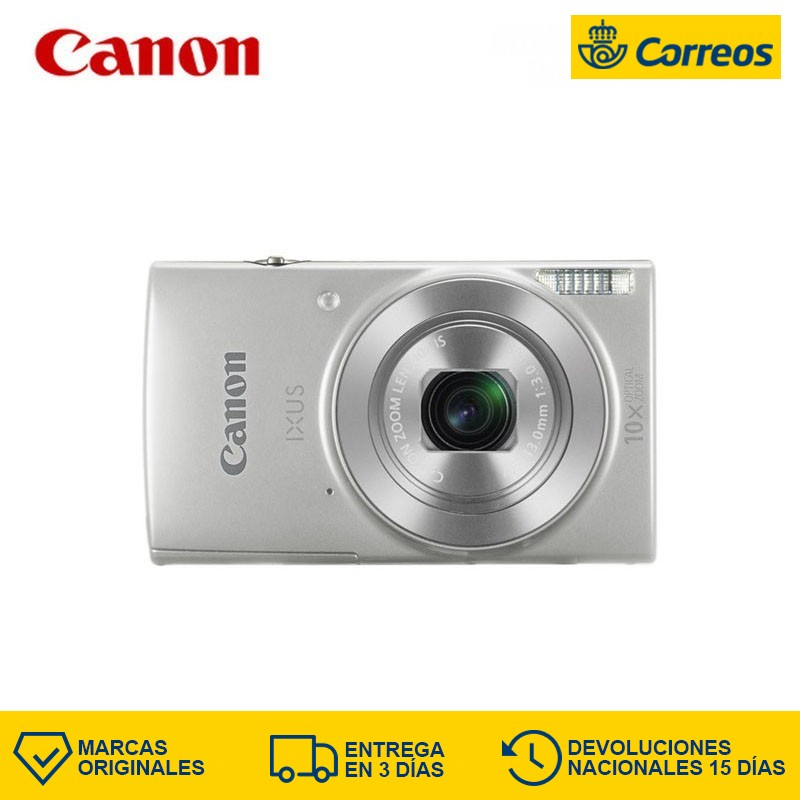 Canon Digital For IXUS 190 20 MP 5152 x 3864 Pixels CCD 10x HD-Ready Silver Aim and shoot cameras image