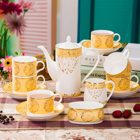 2019 Fashion Porcelain Ceramic Coffee Sets Coffee Cup Sets Coffee Tableware Ornaments Upscale Dinnerware Tableware Kitchen Sets