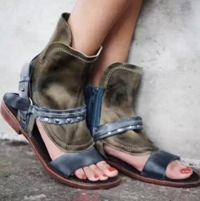 New Fashion Brown Leather Women Open Toe Flat Sandals Ankle Buckles Rome Style Ladies Fashion Sandals Summer Hot Dress Shoes summer new fashion women open toe ankle