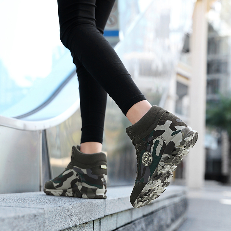 Plus Size 35-42 Fashion Women Camouflage Sneakers Hide Heel Canvas Casual Shoes Woman Platform Sneaker Women Wedge Shoes XZ122 (11)