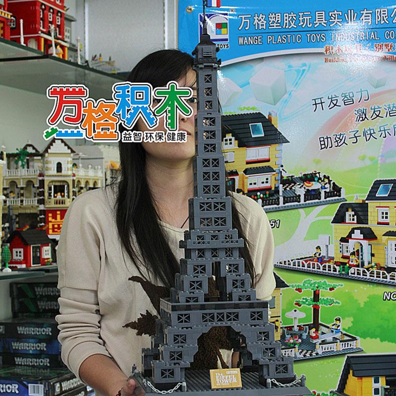 WanGe World Architecture 978Pcs Paris Eiffel Tower Large building block model Bricks 3D Educational Toys For Children wange building blocks toys for children gifts architectures series 978pcs bricks diy educational no 8015