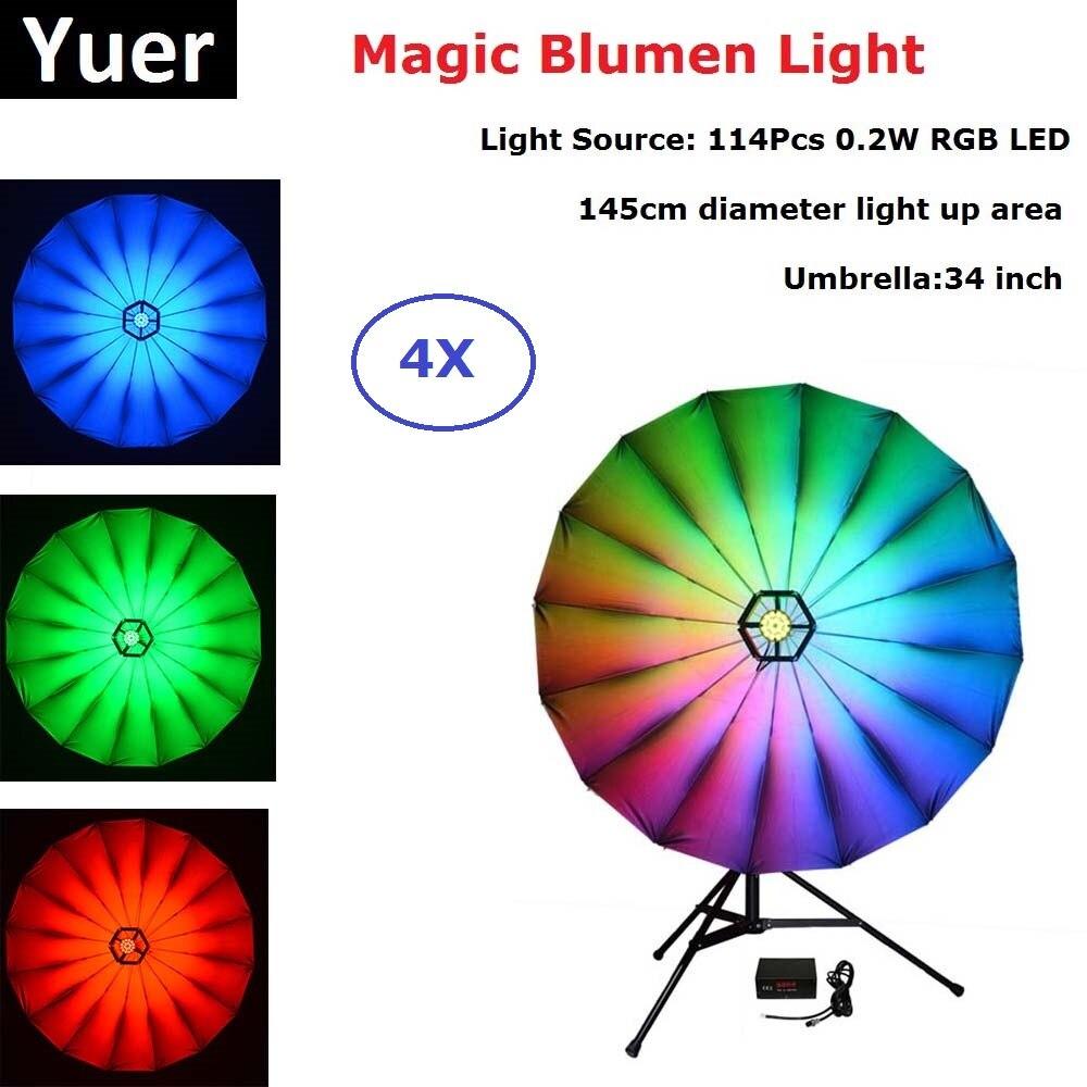 4 Pcs/Lot LED lumière de scène Dj Disco lumière lumière lumière son fête projecteur Laser 20 W RGB LED lumière magique pour la décoration de scène