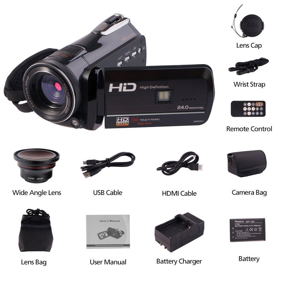 ORDRO D395 Full HD 1080 P Infrarot nachtsicht Camcorder Wifi ...
