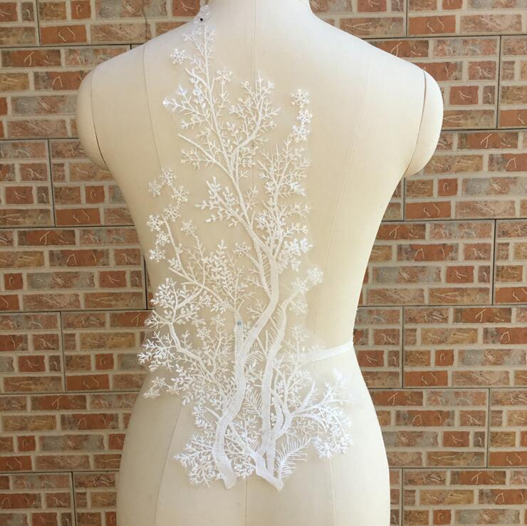 Diy Wedding Gowns: Cindylaceshow 1PC Lace Tree Fabric Ivory White Cotton