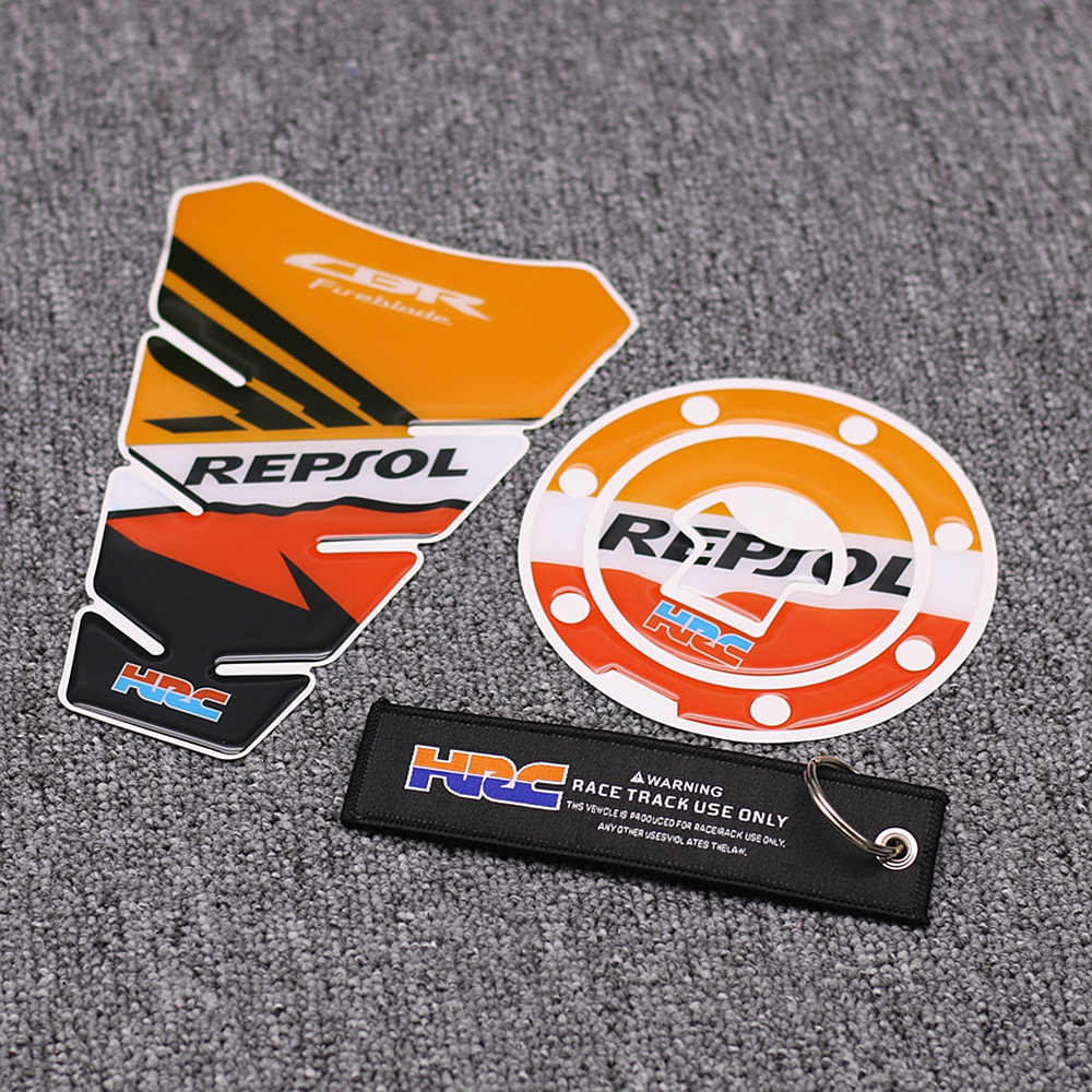 Honda GENUINE REPSOL Wing Fuel Tank Decal Wings Sticker 2 x 100mm BLACK /& ORANGE