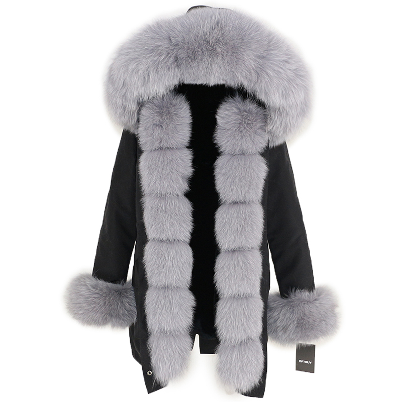 OFTBUY Waterproof Long Parka Winter Jacket Women Real Fur Coat Natural Fox Fur Collar Hood Thick Warm Streetwear Detachable New 105