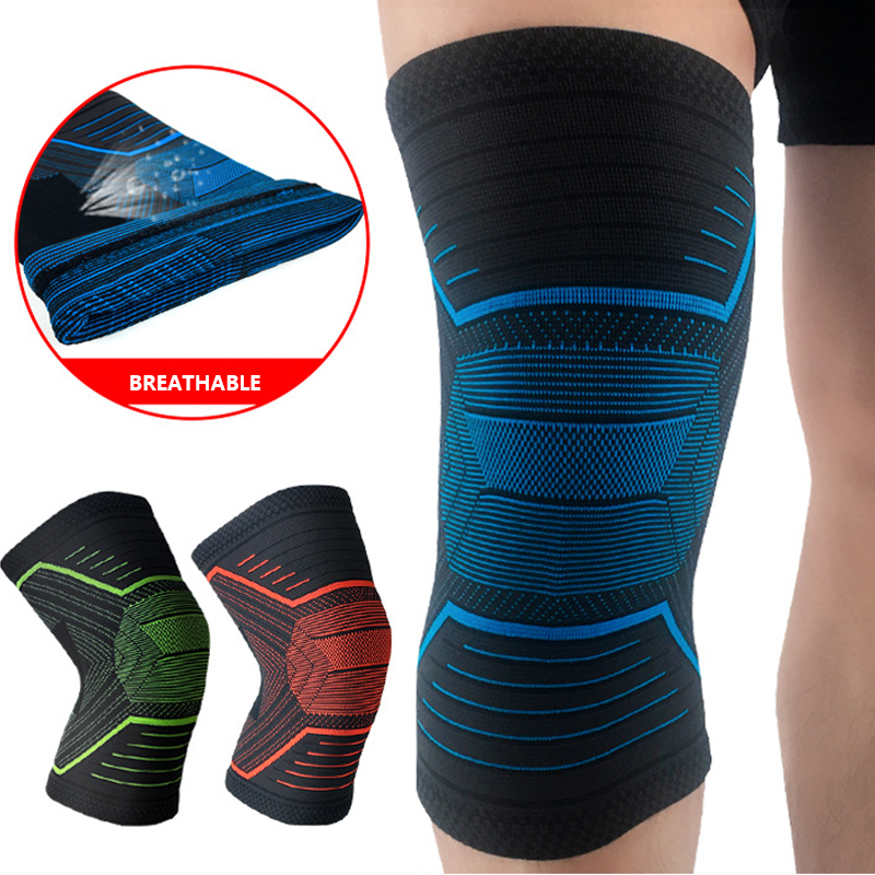 Sports Knee Support Genouillere Sport Kneepad Patella Knee Protector Knitting Anti-Slip Basketball Knee Pads Guard Strap Brace