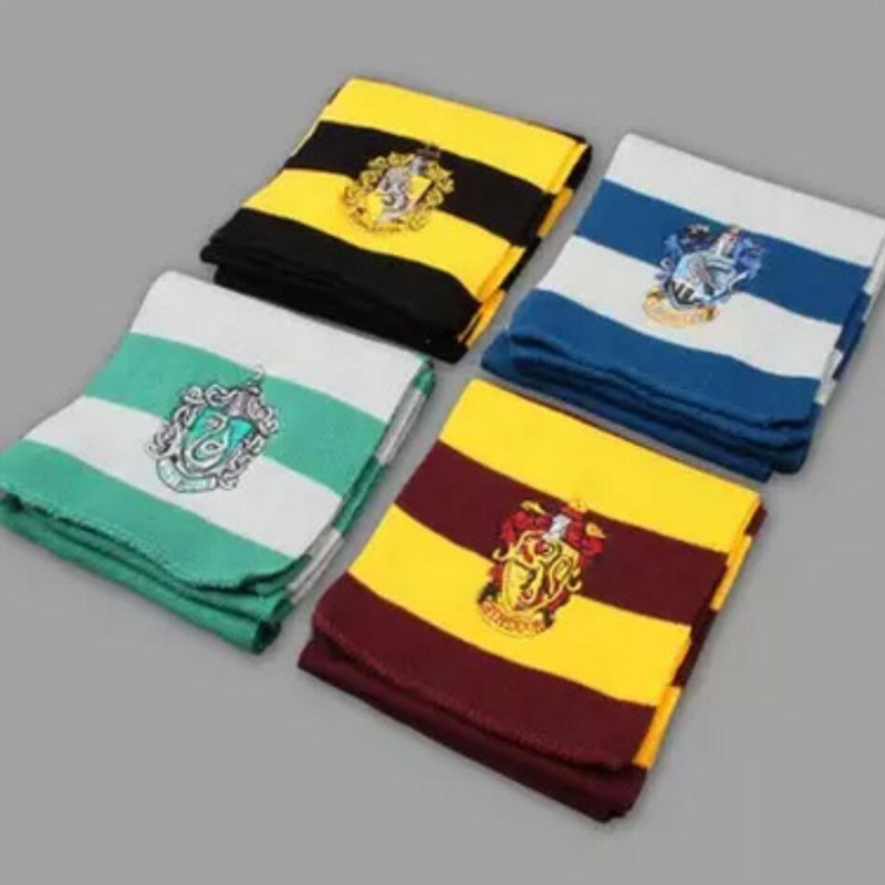 Magic School harri potter  cosplay costume scarf Hermione Gryffindor Ravenclaw Slytherin Hufflepuff Scarf for Boys and Girls Hal