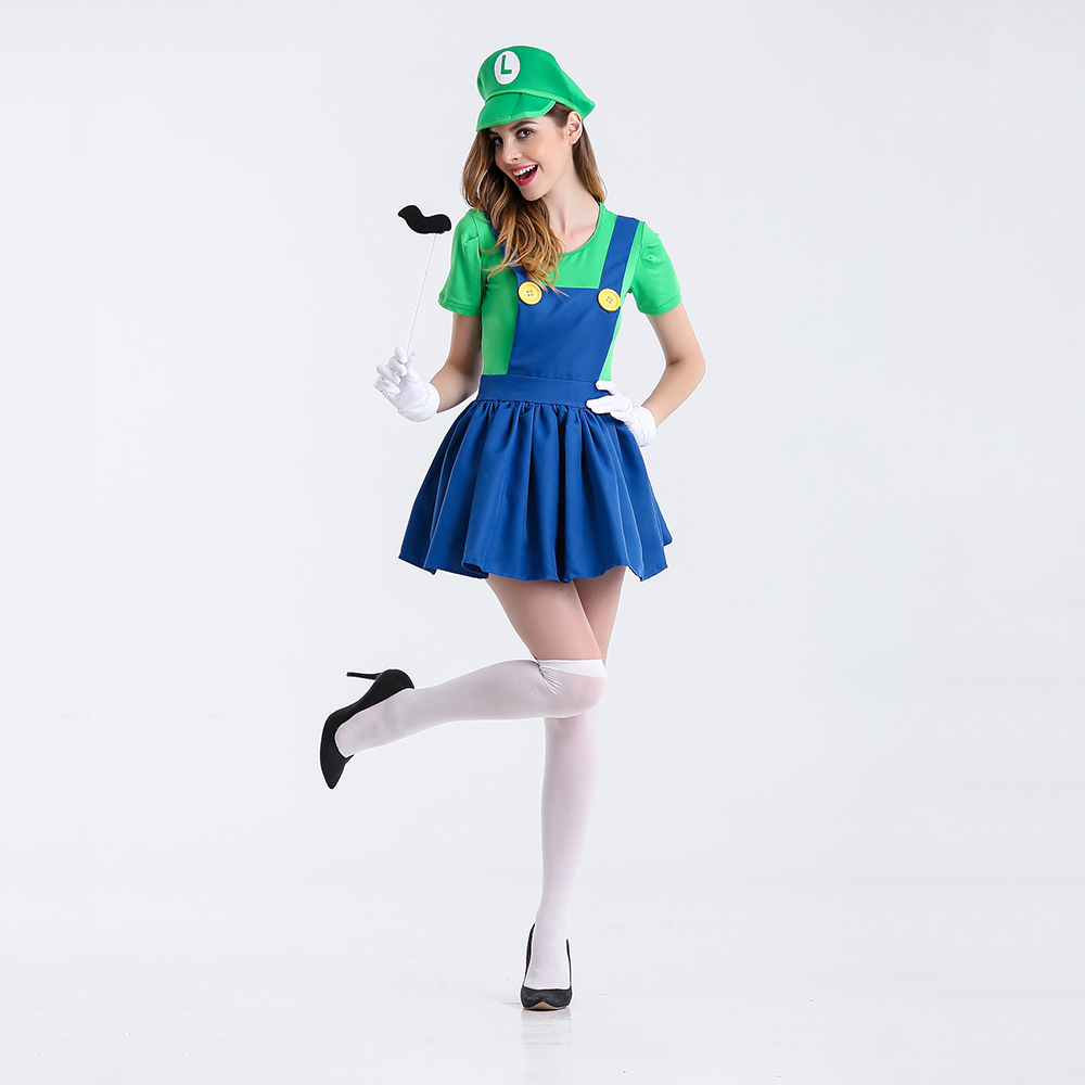 Halloween Super Mario Costume Luigi Costume Anime Cosplay ...