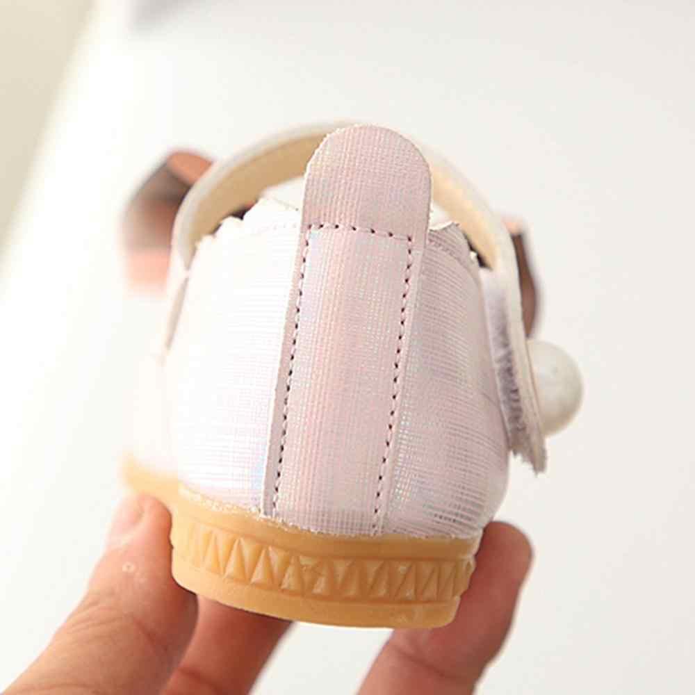 Bebek ayakkabı çocuk bebek çocuk bebek kız ilmek örgü dans tek prenses ayakkabı kızlar degrade yay dantel küçük ayakkabı A1