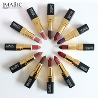 12PCS/LOT IMAGIC Lipstick Moisturizer Lips Smooth Lip Stick Long Lasting Charming Lip Lipstick Cosmetic Beauty Makeup Sexy Color