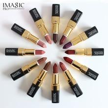 12PCS/LOT IMAGIC Lipstick Moisturizer Lips Smooth Lip Stick Long Lasting Charming Lip Lipstick Cosmetic Beauty Makeup Sexy Color недорого