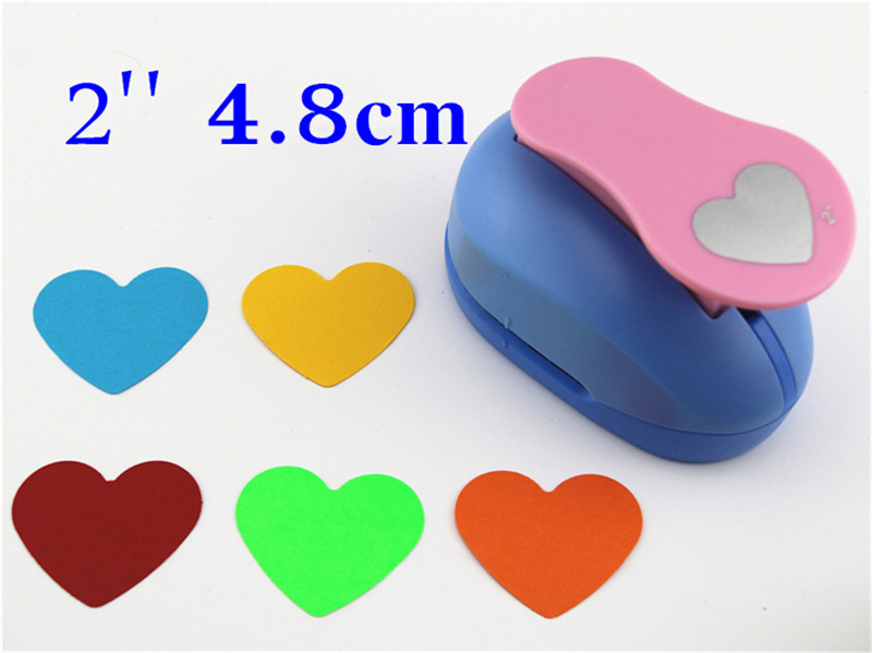 2'' 5cm Big Embossed Device Embossed Heart Scrapbooking Paper Punch Puncher Large Craft DIY Children Toys