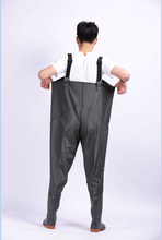 New Fishing Rain Pants Man Breathable Chest Waders Waterproof Thickening 0.65mm Car Washing Clothes Hunting Rubber Material