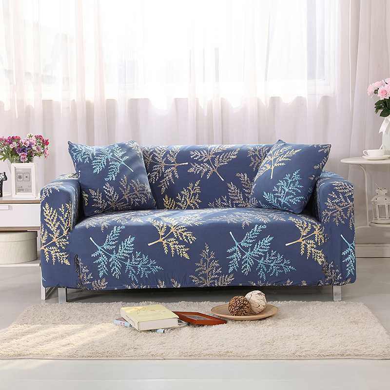 Tropical Leaves Universal Stretch Couch/Corner Sofa Covers For Living Room Cheap Anti-dirty L Shape Sofa Slipcovers Stretchy