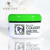 New Zealand Lanolin Collagen Cream with Vitamin E Aloe Vera Moisturising Facial Day Cream for Dry Skin Anti wrinkle nourishment