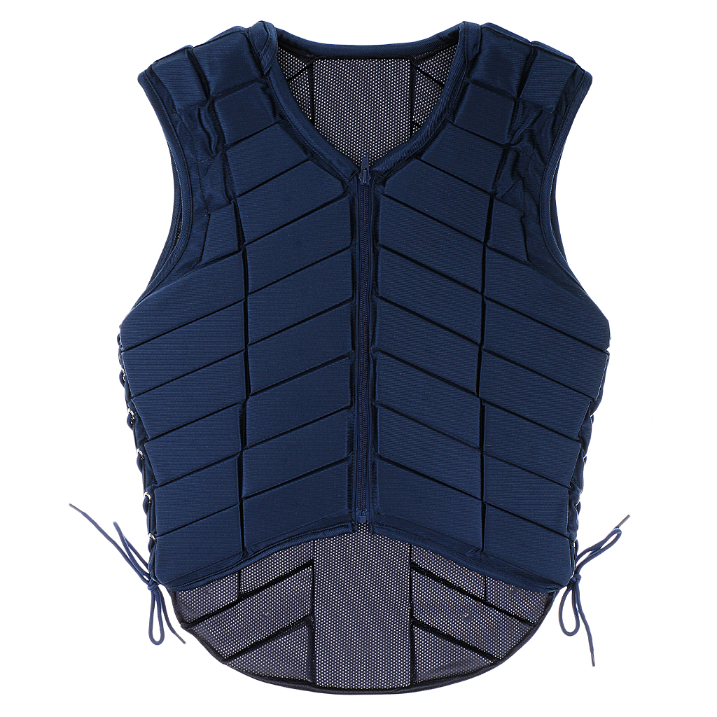 Safety Equestrian Horse Riding Vest Protective Body Protector Navy Adult S Breathable Vest Waistcoat Camping Hiking Accessory eva horse riding waistcoat safe equestrian eventer body protection vest for women men kids riding armor protector vest 3 colors