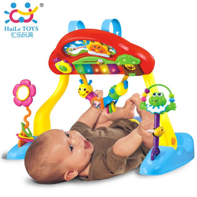 0-3 Anos Deluxe Música Esteira Do Jogo Do Bebê Ginásio Atividade e Berço Chupeta, Musical Melodiosa, luz, teclado e Muito Mais Brinquedo Do Bebê Novo