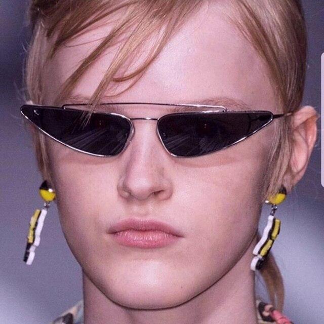 295fcd0a0d Metal Frame Narrow Triangle Glasses Women