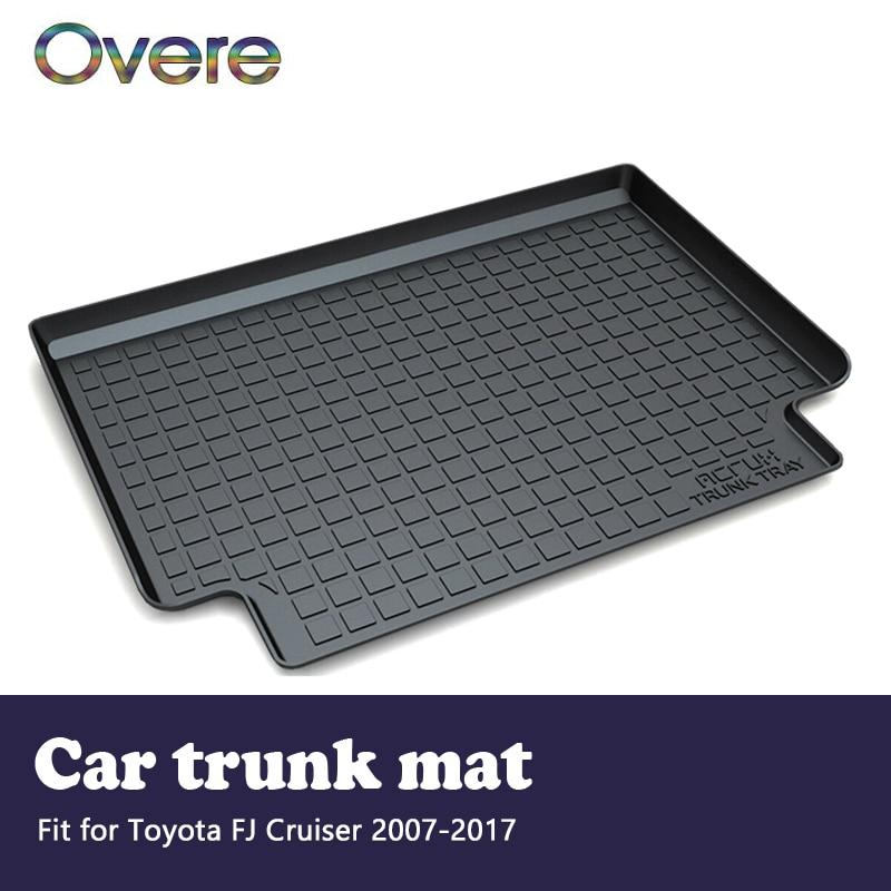 Overe 1Set Car Cargo rear trunk mat For Toyota FJ Cruiser 2007 2008 2009 2010 2011 2012 2013 2014 2015 2016 2017 Accessories цена