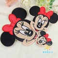 3pcs DIY Cartoon MINNIE fabric adhesive patch/badges iron-on applique embroidery accessory decoration stickers car