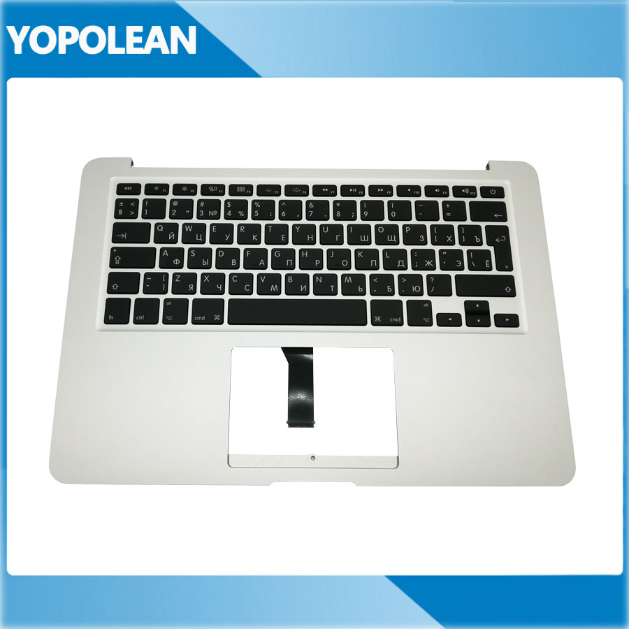 Original Laptop Russia Russian Top Case Palmrest Keyboard Backlight For Macbook Air 13 A1466 2013 2014
