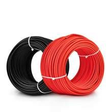 Vermelho/negro cor opcional, 4 praça cabo de energia solar FOTOVOLTAICA, resistência do Envelhecimento, certificação TUV