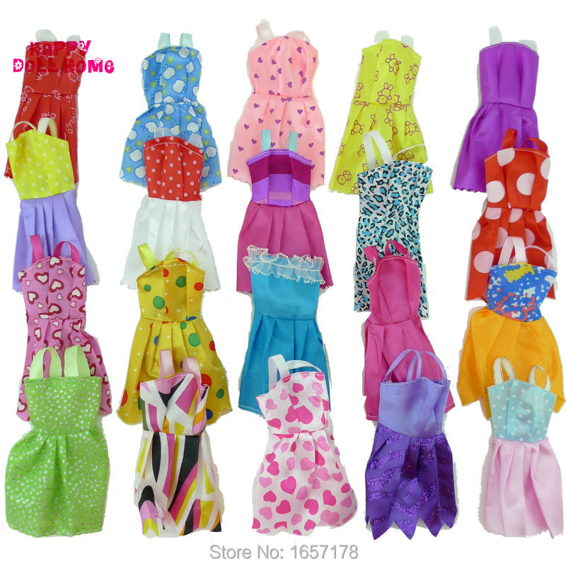 Random-12-Mix-Sorts-Beautiful-Handmade-Party-Dress-Fashion-Clothes-For-Barbie-Doll-Kids-Toys-Gift-Play-House-Dressing-Up-Costume-3