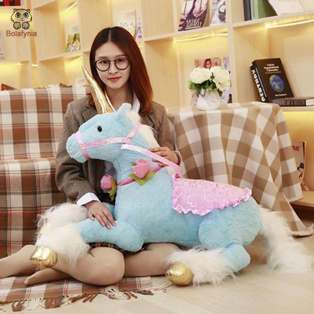 BOLAFYNIA Children Plush Stuffed Toy Cartoon unicorn horse Baby Kids Toy for Christmas Birthday Valentine's Day gift