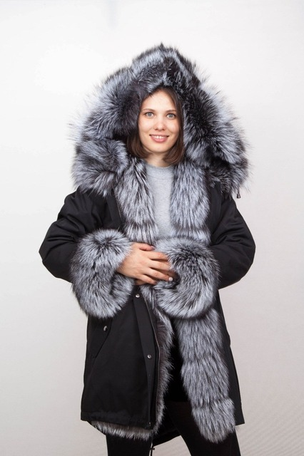 Manteau classe femme fourrure