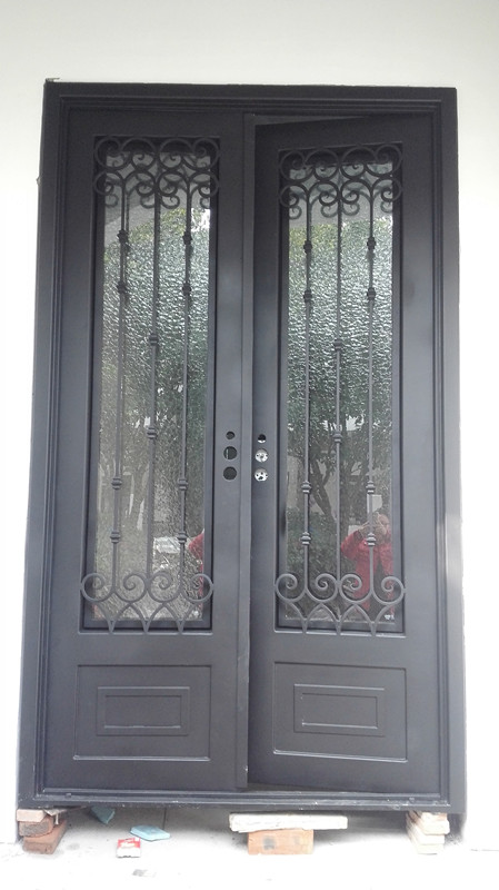 Hench 100% Steel Metal Iron Cheap Wrought Iron Front Doors