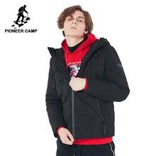 Pioneer camp nuevo invierno chaquetas hombres marca de ropa con capucha cremallera impermeable down parkas masculina 90% blanco abajo negro AYR801427