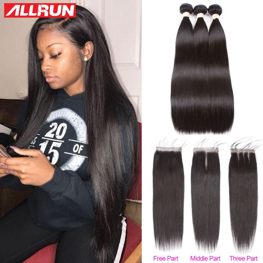 Hot Sale Allrun Brazilian Hair Weave Bundles Human Hair Bundles With