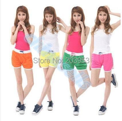 summer fitness shorts girl beach swimming pants lady sports jogging running shorts home slacks mini shorts girl